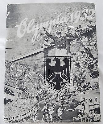 1932 German Germany Olympic Hardcover Album Book Los Angeles Games Pictures 1061