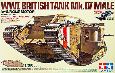 Tamiya 30057 British Tank Mk.IV Male with Single Motor 1/35 Scale Kit