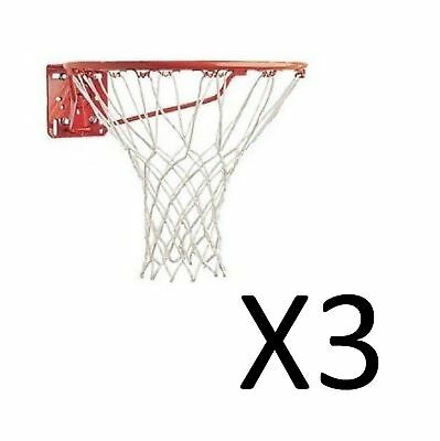 Champion Sports Replacement Basketball Net 4mm 12 Inch 12 Loops White (3-Pack)