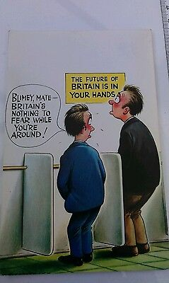 Bamforth Comic postcard. The future of Britain. Unposted.
