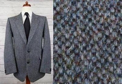 Vintage Grey Classic 2 Button Harris Tweed Jacket -42R- DC80