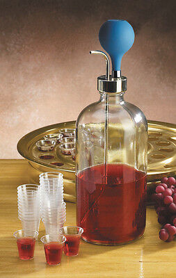 Glass with Siphon 32 oz. Communion Cup Filler