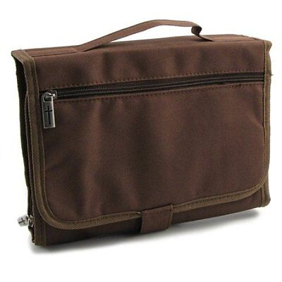 Deluxe Tri-Fold Organizer Bible Cover, Brown, Extra Large