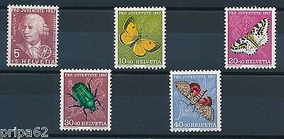 N1215 - SUISSE - Timbres N° 597 à 601 Neufs**