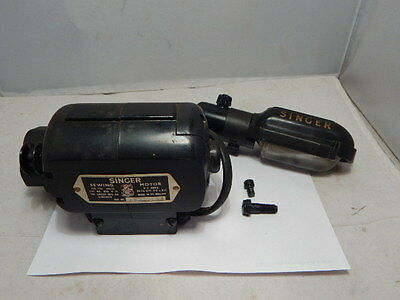 Vintage Singer Sewing Machine ~ Motor Bak 4-11 & Light
