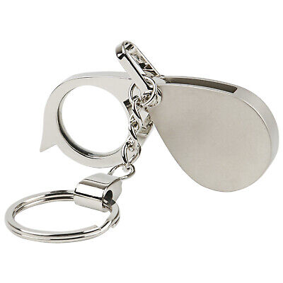 Folding Glass Magnifying Keyring 3X Magnification - By TRIXES
