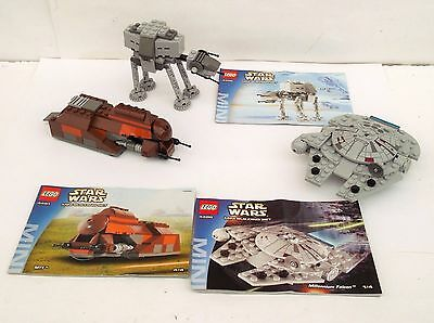 3 Star Wars Mini Sets 4488. 4489 & 4491 With Instructions - Rare