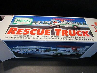 Hess 1994 Rescue Truck Lights Sirens Flashers Good Condition Boxed Lot-H