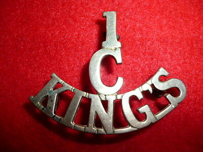 1 / Cadets / King's Liverpool Regiment Shoulder Title - Scarce Title !