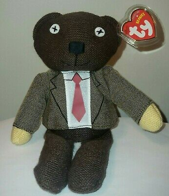 Ty Beanie Baby ~ MR. BEAN Teddy Bear (Jacket & Tie) ~UK Exclusive~ NEW MINT TAGS