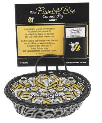 Ganz Little Charms - Bumblebee Charm & Card ER28460 SET OF 2  FREE US SHIPPING