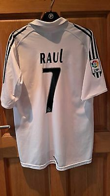 Raul #7  Official Adidads Real Madrid Home Shirt 2005-06 Size Medium