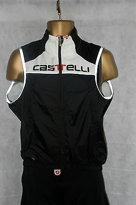 Castelli Rosso Corsa Fusione Cycling Vest Windstopper Size Medium BNWT Black