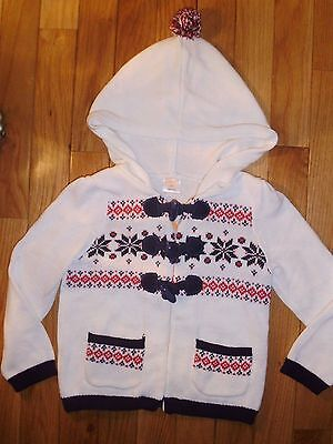 18 24 M 2 3 T Gymboree Ivory Hooded Sweater Fair Isle Toggle Baby Girl New NWT