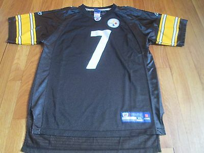 1cbfc63ab28 Reebok Nfl Pittsburgh Steelers Ben Roethlisberger Jersey Black Size Youth Xl