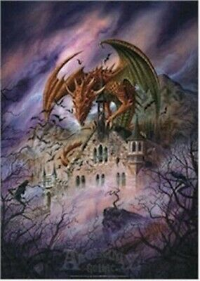 DRAGON ~ SNAGOV CASTLE 24x36 FANTASY ART POSTER Alchemy Gothic Dragons