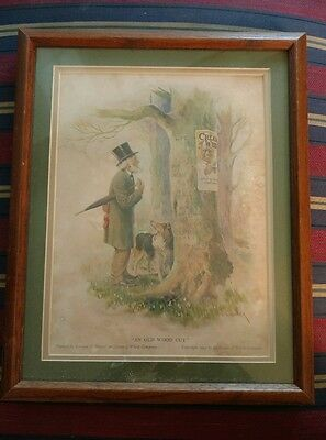 Cream Of Wheat Ad Rastus  Black Man Memorabilia 1923 Wood Cut Tree  Brewer Art