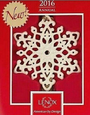 Lenox 2016 Snow Fantasies Snowflake Ornament Limited 859555 NEW IN BOX