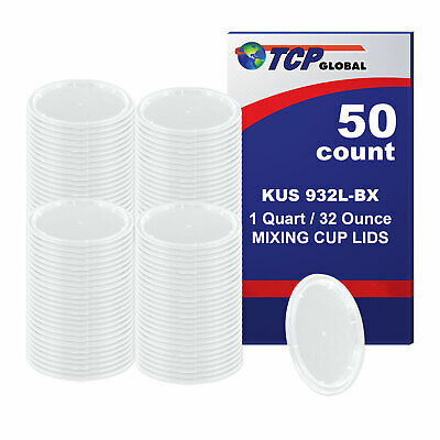 Plastic Lid for Quart Quick Paint Mixing Cup - Box of 100 LIDS