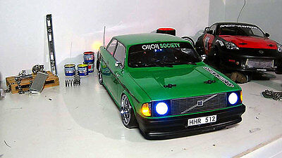 Volvo 242GT CLEAR Body shell 1/10 scale to fit mst yokomo tamiya lrp hpi drift