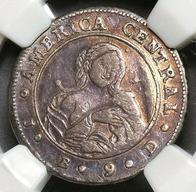 1849 NGC XF 45 COSTA RICA Silver 1 Real Coffee Tree & Woman Coin (17030501C)