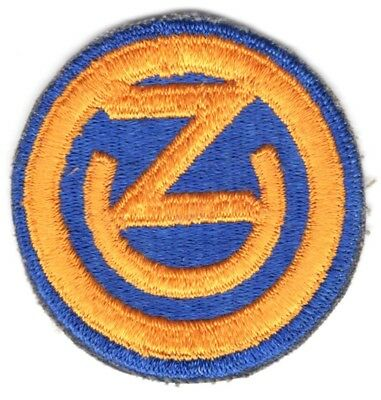 Army Patch: 102nd Infantry Division, cut edge, WWII era