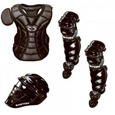 Easton Natural JR Youth Catchers Set Black Ages 6-8 Helmet, Chest Prot,Leg Guard