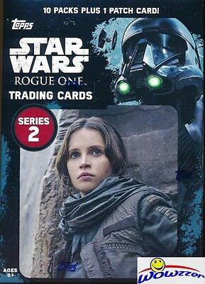 2017 Topps Star Wars Rogue One Series 2 EXCLUSIVE Sealed Blaster Box-PATCH !