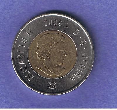 2009 Canadian Two Dollar $2 Coin Toonie Circulated~Nice
