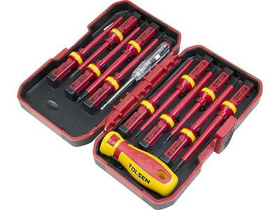13pcs Tolsen Interchangeable VDE 1000V Power Insulated Screwdriver Set