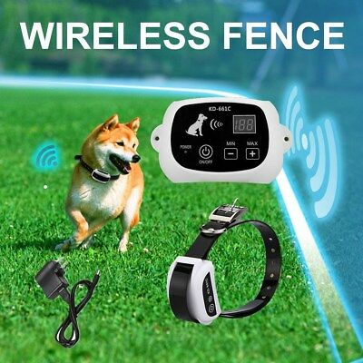 2017 Wireless Dog Fence No-Wire Pet Containment System Rechargeable & Waterproof