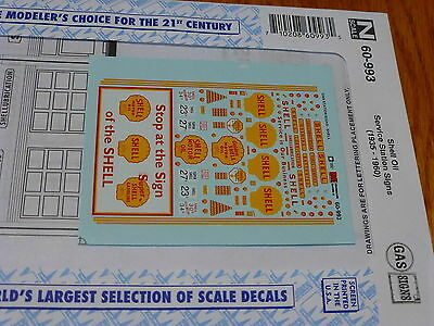 Microscale Decal N #60-993 Shell Oil Service Station Signs (1935 - 1960)