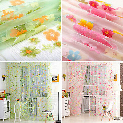 Brand New  curtain Voile Top Curtain Small floral Window Bedroom Curtain