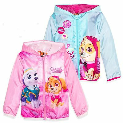 Paw Patrol Girls Hooded Light Waterproof Raincoat Spring Summer Jacket 2-6 Years
