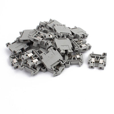 25Pcs MBK 5/E-Z 500V Rail Mount 4mm2 Cable Miniature Terminal Block Gray