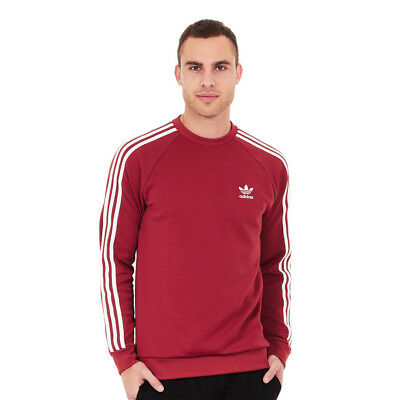 adidas - Superstar Crewneck Sweater Mystery Red Pullover Rundhals
