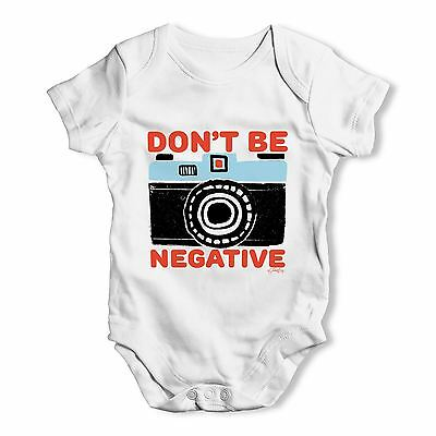 Twisted Envy Don't Be Negative Baby Unisex Funny Baby Grow Bodysuit