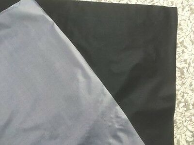 "Black Reflective Fabric Sew On Material 39"" x 39"" Complies to ANSI EN471"