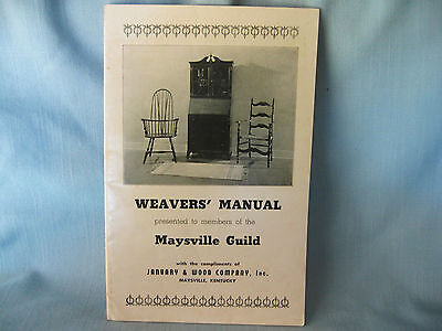 Circa 1930 Maysville Ky Guild Weavers' Manual Booklet Hand Loom Rugs Sc Unused