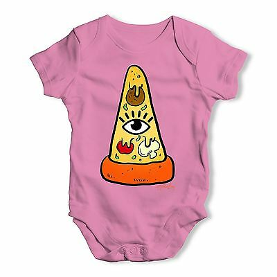 Twisted Envy Illuminati Pizza Baby Unisex Funny Baby Grow Bodysuit