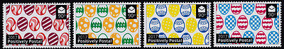 2017 Positively Postal unmounted mint arti stamps x 4 Easter eggs variety