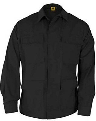 PROPPER BDU Coat Shirt Small/Long Military Specs 4 Pocket 100% Cotton Black NEW