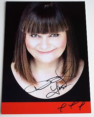 Dawn French SIGNED 7x5 Official Photo Card Autograph Comedy Film TV AFTAL COA
