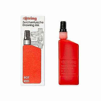 Rotring Isograph Red 23ml Bottled Technical Drawing Liquid Ink Refill - S0216040