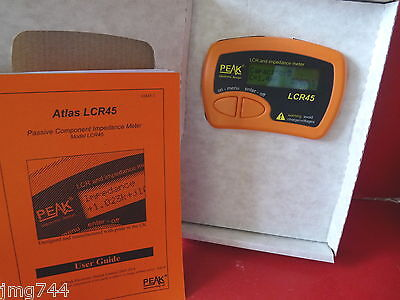 PEAK ATLAS LCR45 PASSIVE COMPONENT ANALYSER Latest firmware R1.1 NEW
