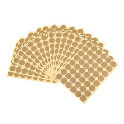720Pcs 25mm Dots Sticker Round Circle Blank Code Label Self Adhesive- Gold