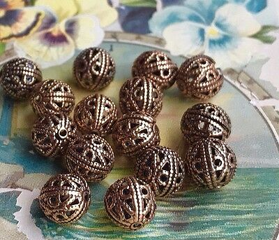Vintage Filigree Beads,Antique Brass OX Beads,Vintaj Beads,Steampunk beads,#1689
