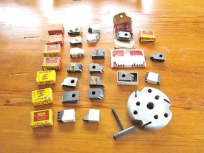 Delta Milwaukee No. 265 Moulding Head Cutter & 27 Cutter Sets for Table Saw