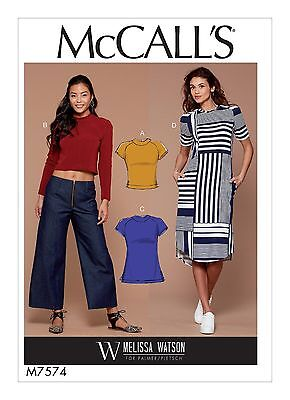 McCalls SEWING PATTERN M7574 Misses Tops,Tunic & Dress 6-14 Or 14-22