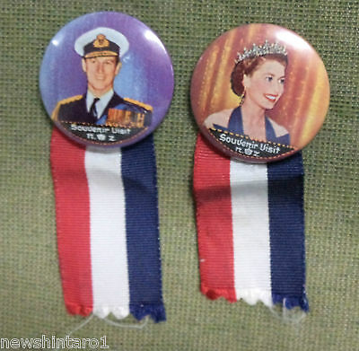 #d134. Four  New Zealand  Tin Badges, 1953 Coronation / Visit Queen Elizabeth Ii